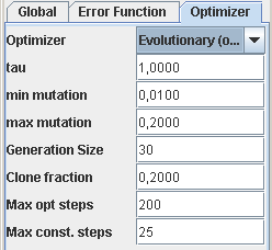 Evolutionary Optimization Options
